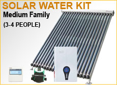 Medium Family Solar Water Kit
